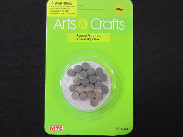 ROUND MAGNETS 8 MM 40 PC